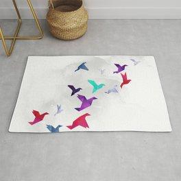 Paper birds Rug