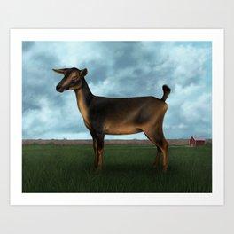 Neighbor Goat Art Print