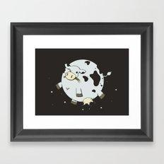 Full Moo Framed Art Print