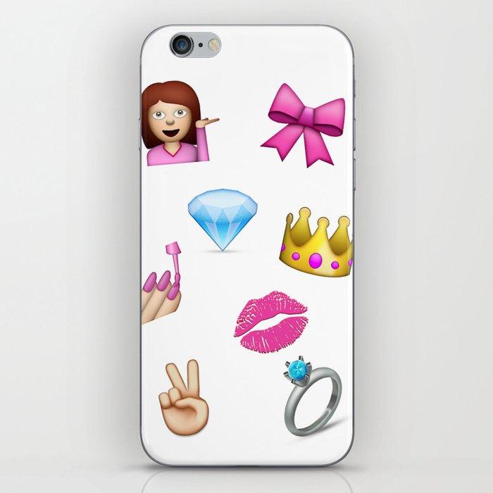 Girly Emoji Compilation  iPhone Skin