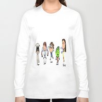 teen titans Long Sleeve T-shirts featuring one direction as the teen titans by Muggle Merch