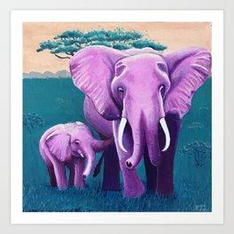 Wheres my elephant? Art Print