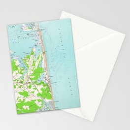 Vintage Map of Bethany Beach Delaware (1954) Stationery Cards