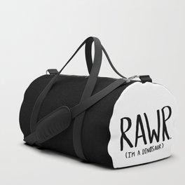 Rawr. I'm a Dinosaur Duffle Bag