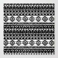 TRIBAL MONOCHROME Canvas Print