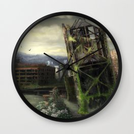 Portland in 100 years with no people Wall Clock