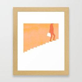 Climbing Ladders Framed Art Print