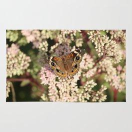Buckeye Butterfly Macro Rug