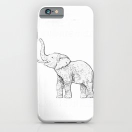 Be Yourself Cute Elephant Art Print Animal Lover Gift Shirt iPhone Case