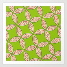 Christmas Tapestry: Green Art Print