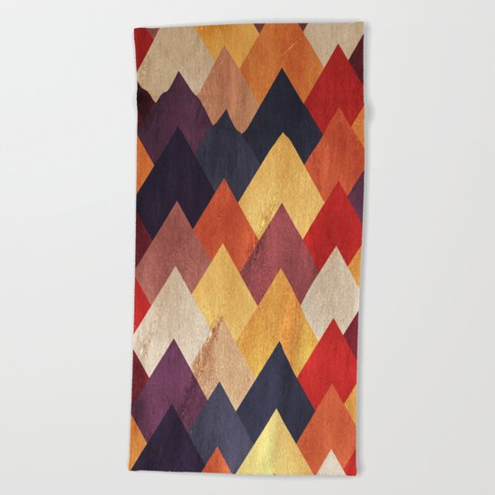 Eccentric Mountains Beach Towel