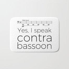 I speak contrabassoon Bath Mat