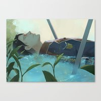 snk Canvas Prints featuring The dreamer (Levi, SnK) by sushishishi