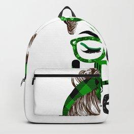 Lucky Lpn St Patricks Day Irish Shamrock Nurse Backpack