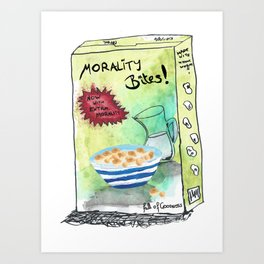 Super Cereal Morality Bites - Contains Free Toy! Art Print