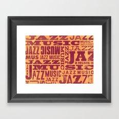Jazz Poster Framed Art Print