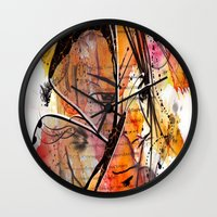 anime Wall Clocks featuring Anime 2 by Del Vecchio Art by Aureo Del Vecchio
