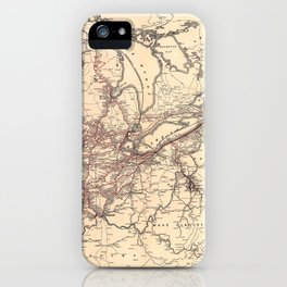 New York Central & Hudson River Railroad Map (1900) iPhone Case