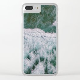 Surf Photography, Beach Wall Art Print, Ocean Water Surfing, Coastal Decor Clear iPhone Case