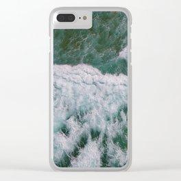 Surf Photography, Beach Wall Art Print, Ocean Water Surfing, Coastal Decor Clear iPhone Case