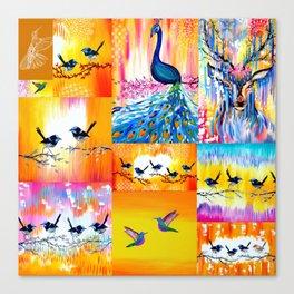 Yellow designs Canvas Print