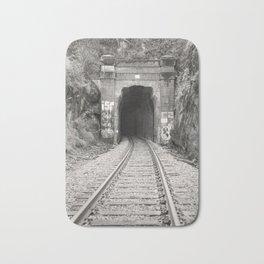 Bellingham Railroad Tunnel, Washington Trains, Northwest Landscape, Sepia Print Bath Mat