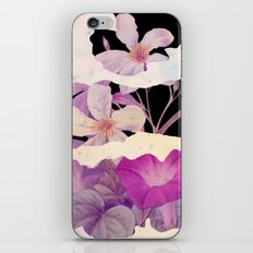 floral on torn paper iPhone & iPod Skin