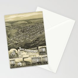 Aerial View of Shenandoah, Pennsylvania (1889) Stationery Cards