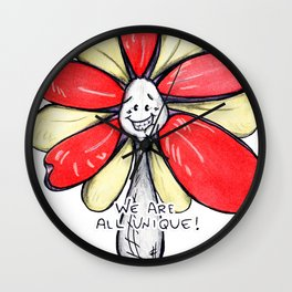 """We Are All Unique!"" Flowerkid Wall Clock"