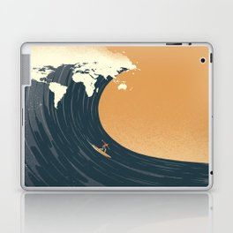 Surfing the World Laptop & iPad Skin