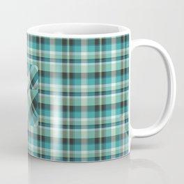 Plaid Pocket - Teal Blue/Green Coffee Mug