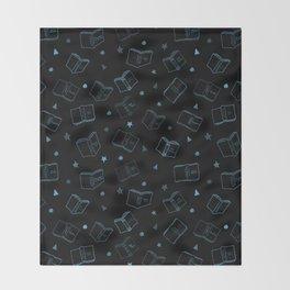 Classic Books Invert Blue Throw Blanket