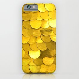 Bright Gold Sequins With Contemporary Bling and Glam iPhone Case