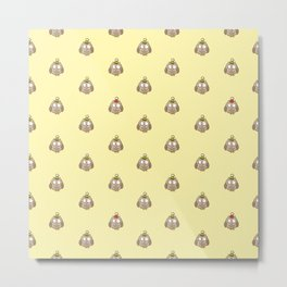 Funny Owl Pattern Metal Print