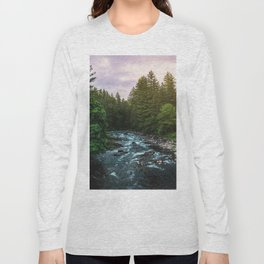PNW River Run II - Pacific Northwest Nature Photography Long Sleeve T-shirt