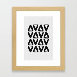 Black and White Abstract II Framed Art Print