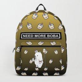 Bubble Tea Bear Backpack