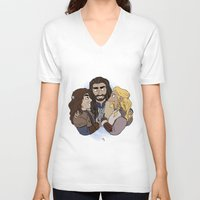 thorin V-neck T-shirts featuring Thorin, Fíli and Kíli by BlueSparkle