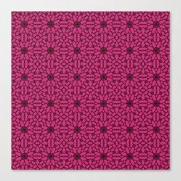 Pink Yarrow Lace Canvas Print