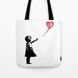 Banksy cosmic balloon Tote Bag