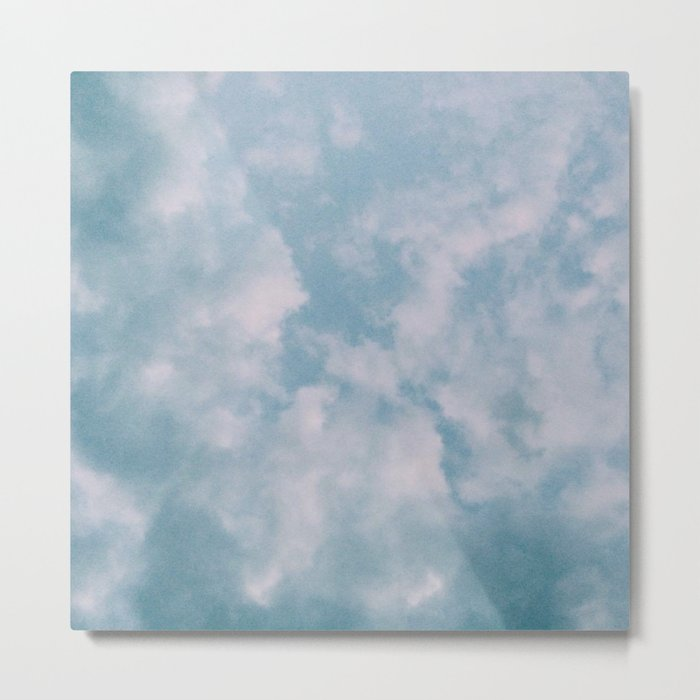 Fluffy Blue Clouds Metal Print
