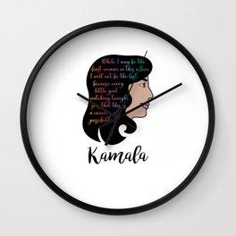 Kamala Harris Victory Speech Female VP Wall Clock