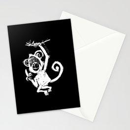 happy monkey Stationery Cards