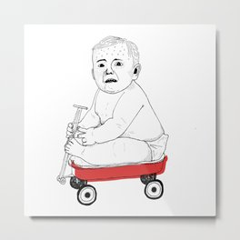Chariot Kid Metal Print