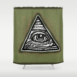 Eye of Providence Shower Curtain
