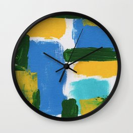 Abstract Expression #3 by Michael Moffa Wall Clock