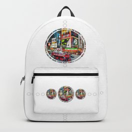 Times Square New York City Badge Backpack