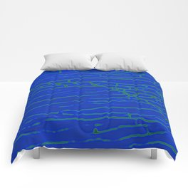 Stone electric blue Comforters