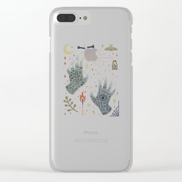 A Curse Upon You! Clear iPhone Case
