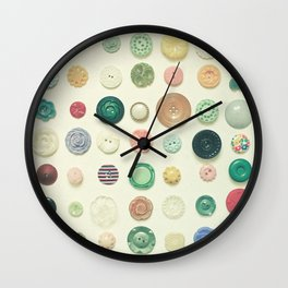 The Button Collection Wall Clock